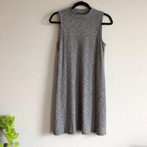 Madewell mockneck grey heather dress size small